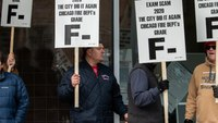 Chicago firefighters protest after promotional exam canceled due to technical issues
