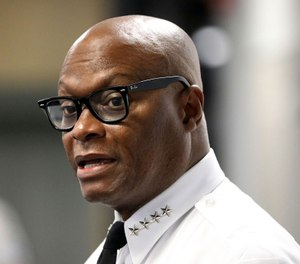 Chicago police Superintendent David Brown speaks with the media on July 6, 2020. (Antonio Perez/Chicago Tribune/TNS)