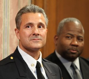 Cleveland's firefighters sued the city, asking the Cuyahoga County Common Pleas Court to order Mayor Frank Jackson's administration to dismiss Fire Chief Angelo Calvillo for violating terms of the charter and civil service rules. (Photo/Tribune News Service)