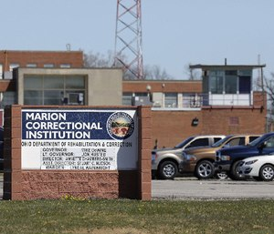 Marion Correctional Institution photographed from across the street. The institution has become a hotspot for COVID-19. (Photo/Fred Squillante of Columbus Dispatch via TNS)
