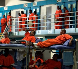 A prisoner at California State Prison, Los Angeles County, shown, tested positive for the novel coronavirus. (Photo/Gary Friedman of Los Angeles Times via TNS)