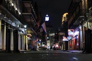An empty Bourbon Street in New Orleans is seen on March 16, 2020. Image: Chris Graythen via TNS