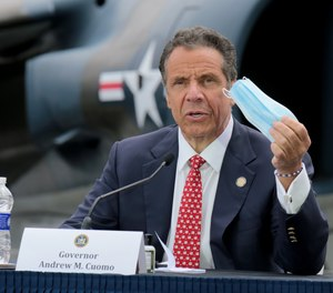 New York Gov. Andrew Cuomo said at a press briefing at the Intrepid Sea Air Museum on Memorial Day that families of frontline personnel who die from COVID-19 will be entitled to death benefits.