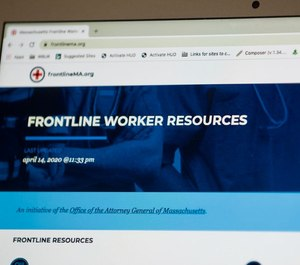 Massachusetts Attorney General Maura Healey launched a new website Wednesday, FrontlineMA.org, to provide resources to those on the frontlines of the coronavirus pandemic and to allow the public to help health care workers and first responders.