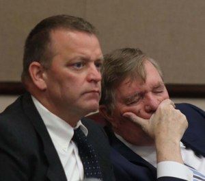The New York State Supreme Court Appellate Division ruled that the city of Utica does not owe Richard Forte (left), a former city firefighter, back pay for the time he was suspended before his conviction and firing for a lewd act committed against another firefighter. (Photo/H. Rose Schneider, Observer-Dispatch)