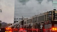 LA fire and police investigators work to determine cause of blast that injured 12 FFs