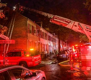 The fast-moving fire ultimately caused a roof collapse. (Photo/Rich Maxwell)