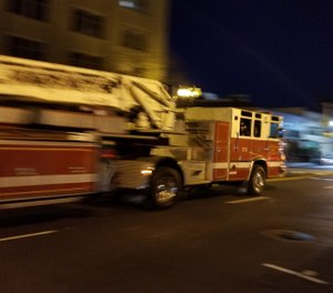 A fire truck on the streets of Oakland, Calif. A man stole a smaller Oakland fire truck and led police officers on a wild chase through three counties. (Photo/Dreamstime/Tribune News Service)