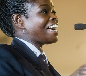 Flint Deputy Fire Chief Carrie Edwards-Clemons has been named the first female president of the International Association of Black Professional Firefighters.