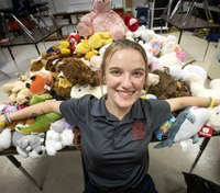Fla. cadet collecting stuffed animals to give to children at fire and police stations
