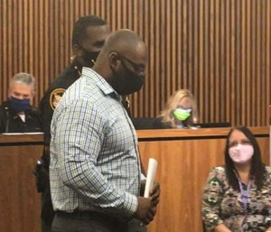 Former Cuyahoga County Jail officer Charles Enoch pleaded not guilty to a misdemeanor assault charge that accused him of attacking an inmate in the jail's mental health ward in November 2018.