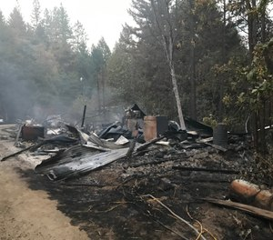 A hash oil lab exploded in rural Jackson County, sparking a wildfire that injured one firefighter. (Photo/Tribune News Service)
