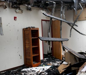 An early morning fire Sunday at With Friends, Inc. youth shelter in North Carolina caused extensive damage to one of its buildings. (Photo/John Clark, The Gaston Gazette)