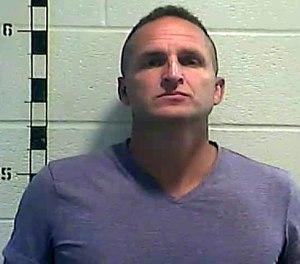 Former detective Brett Hankison stands for a mug shot on Wednesday, Sept. 23, 2020, in Louisville, Kentucky. (Shelby County Detention Center/Getty Images/TNS)