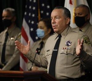 Los Angeles County Sheriff Alex Villanueva, shown in May 2021.