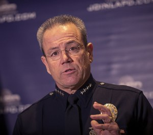 This file photo from 2018 shows LAPD Chief Michel Moore. (Photo/Allen J. Schaben/Los Angeles Times)