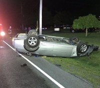 Off-duty NY EMT saves man after a rollover crash