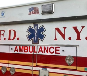 An FDNY EMT was arrested Thursday in relation to a fatal incident in which a pedestrian was struck by an ambulance at a crosswalk. (Photo/Rose Abuin, New York Daily News)
