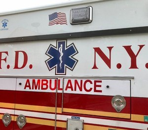 An FDNY EMT was arrested Thursday in relation to a fatal incident in which a pedestrian was struck by an ambulance at a crosswalk.