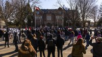 Ahead of Chauvin trial, protesters rally in Minn. city