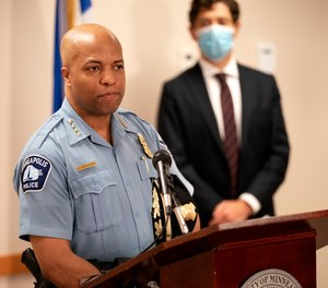 Police Chief Medaria Arradondo, left, and Mayor Jacob Frey unveiled new changes in August to the deadly use of force policy.