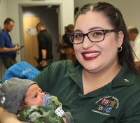 Mom and baby meet dispatcher who helped with gas station birth
