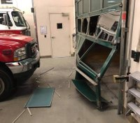 Motorist crashes into Calif. fire station twice