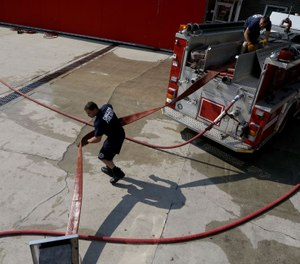Training at Chicago's Quinn Fire Academy has been temporarily suspended due to an outbreak of COVID-19. (Photo/Antonio Perez, Chicago Tribune)