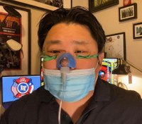 FF-medic repurposes infant mask to help COVID-19 patients breathe
