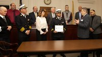 NJ regional fire department, battalion chief honored for commitment to military