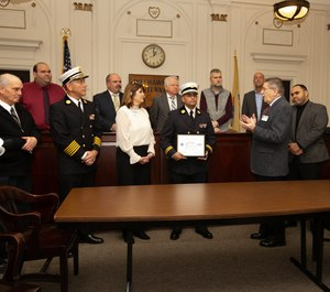 The North Hudson Regional Fire and Rescue and one of its battalion chiefs was presented with two awards on Monday, December 16, 2019.