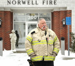 Norwell Fire Chief T. Andrew Reardon cited was cited for texting and driving crash. (Photo/Tribune News Service via  Gary Higgins/The Patriot Ledger)