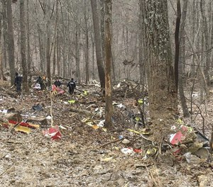 A pilot and two flight nurses aboard a Survival Flight air ambulance traveling from Mount Carmel Grove City hospital to pick up a patient at Holzer Meigs hospital in Pomeroy crashed into trees in a state forest near Zaleski in Vinton County, southeast Ohio, at 6:55 a.m. on Jan. 29, 2019. Pronounced dead at the scene were: pilot Jennifer L. Topper, 34, of Sunbury; and flight nurses Bradley J. Haynes, 48, of London and Rachel L. Cunningham, 33, of Galloway. (Photo/Ohio State Highway Patrol)