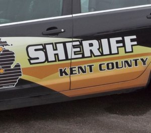 Kent County sheriff's deputies and firefighters were attempting to stop a runaway tractor that killed one person when it collided with a fire truck. (Photo/MLive.com)
