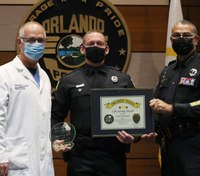 Fla. cop awarded for saving child after car accident