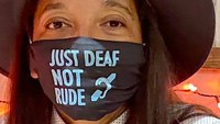 Paramedic wearing 'Just Deaf, Not Rude' mask felt 'very hurt' by ignorant flight attendant