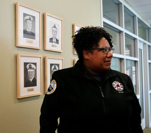 Portland Fire Chief Sara Boone said in a statement that a firefighter who used racial slurs against a Black hotel clerk will be suspended for 6 months and required to complete diversity training.