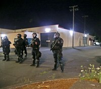 Unlawful assembly declared after rioters attack Portland cops outside precinct