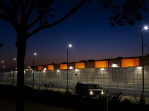 Located in south San Diego, the Otay Mesa Detention Center where immigrant detainees awaiting court proceedings are housed.
