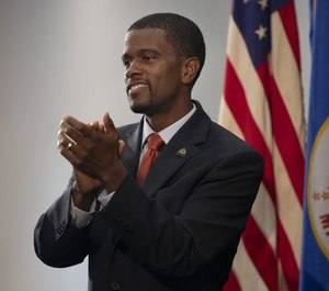 St. Paul Mayor Melvin Carter gave his 2020 budget address at Frogtown Community Center. (Photo/Tribune News Service)