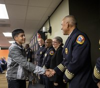 Texas FD honors teen who saved drowning boy