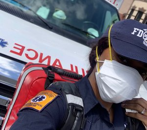 FDNY EMT Naquavia Robinson received financial aid from the EMS FDNY Help Fund after losing her second job as a nanny during the COVID-19 pandemic.