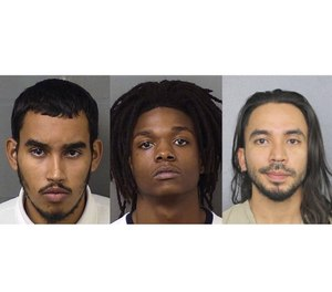Jose Garcia Romero (left), Torrey Holston and Marco Rico. Romero and Holston have been indicted for murder and robbery, and Rico has been charged with criminal conspiracy and being an accessory after the fact. (Photos/Palm Beach County Sheriff's Office and Broward County Sheriff's Office)