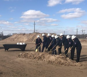 UMC Health System held a groundbreaking ceremony for the new EMS Station One and Communications Center on Monday. (Photo/Matt Dotray, A-J Media)