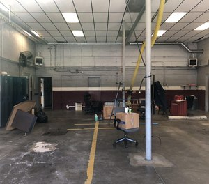 Supplies are seen scattered around Station 4 in Petersburg on Saturday, April 18, after firefighters were told to move everything out immediately, according to retired fire Sgt. Gene Beemer.