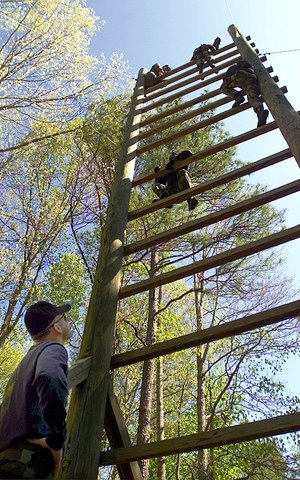 Ladder climb obstacle