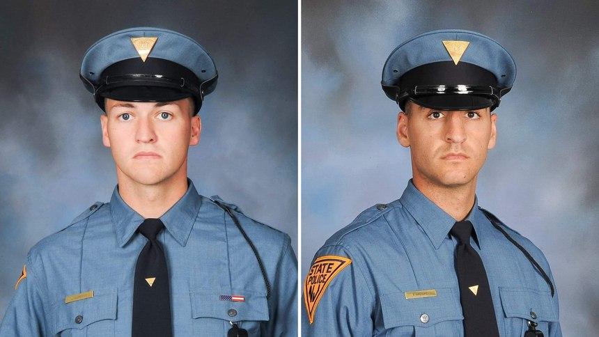 TroopersKyle Gorman (left) andPierre Haddad.