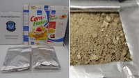 Drug-sniffing K-9 finds breakfast cereal coated with cocaine