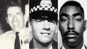 This composite photo by the Officer Down Memorial page shows (left to right) Sgt. James Severin, Officer Anthony Rizzato and Officer Herman Stallworth.