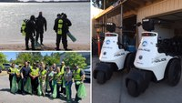 Police departments celebrate Earth Day with clean-ups, electric vehicles